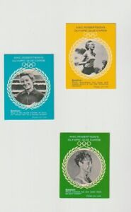 Mac Robertson olympic quiz Cards 3 Cards Lot Cigarette and trade Cards