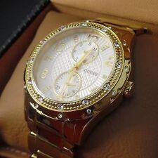 GUESS Armbanduhren im Luxus-Stil mit 12-Stunden-Zifferblatt für Damen
