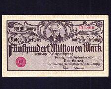 DANZIG GERMANY POLAND 500 Million mark 1923  P-28a   VF