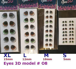 EYES STICKERS 3D OJOS MODEL#O8  AUTOADHESIVOS,PORCELAIN,CLAY,FOAM eyechips
