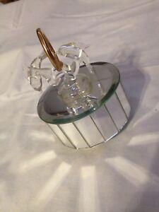 Spieluhr, Melody aus  Cats,Moonlight,Spiegelglas,Glasdelphine,9x12cm