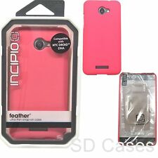 Incipio feather Ultra Thin Shock Absorbing NEON Pink Case for HTC Droid DNA