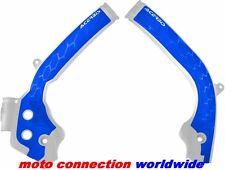ACERBIS X-GRIP FRAME GUARDS FOR HUSQVARNA TC125 FC250 FC350 2016 WHITE / BLUE
