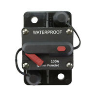 100A AMP Circuit Breaker Dual Battery Manual Reset IP67 W/proof 12V 24V Fuse