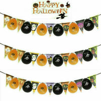 Happy Halloween Hanging Bunting Funny Flag Banner Festival Party Decorations