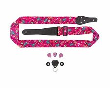 Pink Guitar Strap for Kids, Beginners, Youth, and Adults: Includes Bonus Bund...