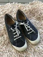 Womens Finn Comfort Shoes Size Euro 41 lace up leather Sneaker Navy Blue