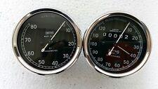 Smiths 120 mph Speedometer + 8000 rpm Tachometer 80 mm , M12x1 thread Replica