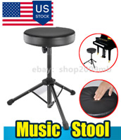 Round Non-adjustable Folding Drum Seat Stool Soft Padded Tripod Stand Drum Chair