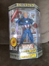 Captain America Marvel Legends Icons. ?Evolution Of An Icon Book Included. NIB