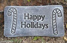 Happy Holidays plastic mold Christmas decor mould