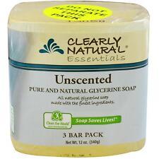 clairement naturel,pure et naturel glycérine savon,sans parfum,3 bar Lot ,114ml
