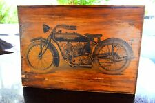 INDIAN MOTORCYCLE VINTAGE ANTIQUE WOOD PICTURE ART