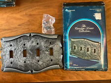 Vtg Amerock Carriage House Light Switch Toggle Plate Cover 4 Quad Silver NOS D2