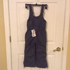 0b05868da NWT Phibee Snow Ski Bibs Overalls Pants Kids XS 3T 4T Unisex Gray Insulated  NEW
