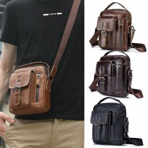 Herren Schultertasche Echtleder Umhängetasche Männer Messenger Handtasche DHL