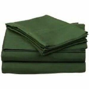 Hunter Green Solid Split Corner Bed Skirt Choose Drop Length US Size 800 Count