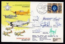 GB Sussex SHOREHAM Air Day 1977 Edambusters SIGNED x8 Official cover