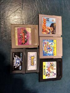 6x GB & GBA Games (NOT WORKING) Mario 2 Spartan X Kirby Shining Soul Gargoyle's