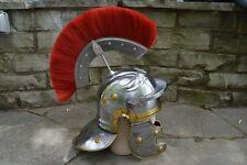 NEW Medieval Replica ROMAN CENTURION Steel Helmet Lining & Removable Plume