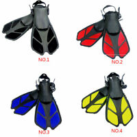 Fins Adult Short Diving Snorkeling Swim Flippers Training Swimming Kids Scuba HA