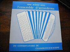 une soirée avec l'ensemble d'accordéons du conservatoire de Champigny sur marne