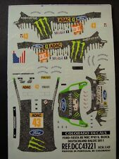DECALS 1/43 FORD FIESTA RS WRC #43 K.BLOCK ALLEMAGNE 2011   - COLORADO  43221