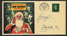 King George VI Autograph Reprint WWII Xmas Original Period 1940 Stamp *86
