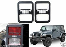 PAIR Jeep Grill Tail Light Covers For 2007-2016 Jeep Wrangler New Free Shipping