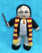 KNITTING PATTERN - Harry Potter inspired 28 cms soft toy Wizard doll