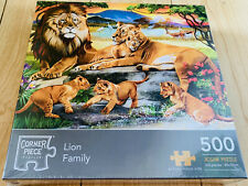 Lion Family 500 Piece Jigsaw Puzzle NEW Wild Animals Africa Big Cats Playful
