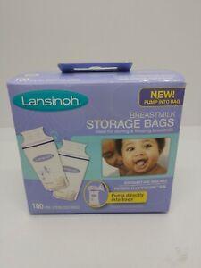 Lansinoh breastmilk 100 pack storage bags New Sealed.