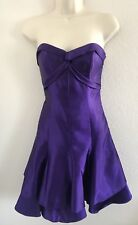 VTG 80'S JESSICA MC CLINTOCK  GUNNE SAX STRAPLESS PURPLE SATIN FORMAL DRESS 3