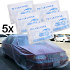 5 Pack Plastic Clear Waterproof Car Covers Universal Rain Snow Dust Resistant L
