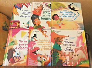 """Lot 6 Livres Jeunesse Happy Meal / Mc Do Mac Do """"Il était un dicton"""" 2021"""