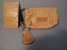 NWOT Dooney & Bourke Three (3) Items Key ring Card Case Wristlet Ostritch NEW