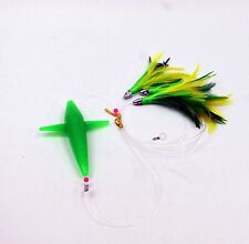 Daisy Chain Teaser with Bird - Green Feather Rigged w/Bag - Magbay Lures