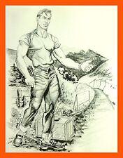 Limited EDITION impresión Macho Hustler físico pictórica de pastel de carne Interés Gay Sexy