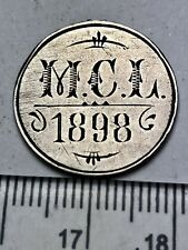 "1800's Victoria Silver Sixpence - hand engraved: ""MCL 1898 M. DERBYSHIRE"" (B257)"