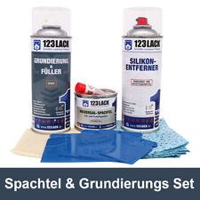 Spachtelmasse & Grundierung Auto Set | 123Lack Lackiervorbereitung-Set 6 tlg.