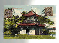 1909 Shanghai China Postcard Picture Cover to Czechoslovakia Chinese Joss House