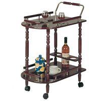 Bar Serving Cart Wheels Storage Trolley Table Home Furniture Food Bottle Holder