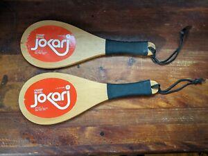 Vintage set of Jokari paddles - Champ Model