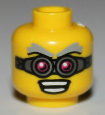 LeGo Yellow Head Glasses Pink + Silver Open Mouth Teeth