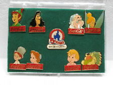 WOWZAA!!  VINTAGE Coca~Cola   PETER PAN and FRIENDS   DISNEY 15TH ANV PIN SET