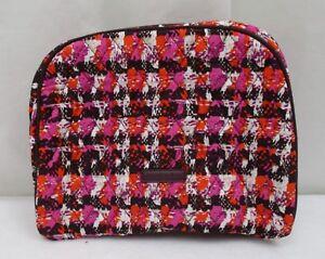 Vera Bradley Large Zip Cosmetic Bag Houndstooth Tweed NWT
