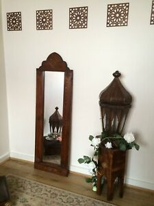 Brown Luxurious Handcrafted Moroccan Mirror Indian Antique Look Farmhouse Barn