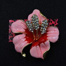 Rhinestone Enamel Lovely Flower Crystal Betsey Johnson Charm Brooch Pin Gift