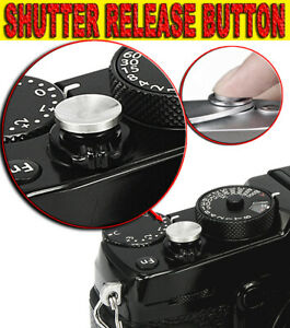 SOFT SHUTTER RELEASE BUTTON SILVER GRAY REMOTE ADATTO A SONY RX10 MARK II III IV