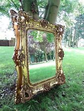 Large Rococo reproduction antique Wall hall mirror. Fabulous ornate & Opulent b